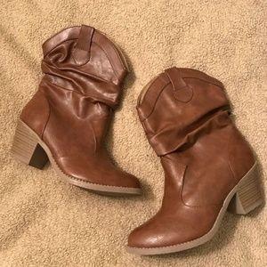Mudd MD Weston Cognac Cowboy Boots